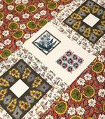 20数平織り)オリエンタルパッチカット紙(赤紫色)