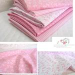 綿混 - ラブリボン#ピンク