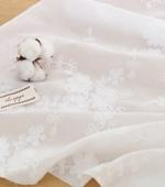 大幅 - 最高級綿レース刺繍)コスモス(2種)
