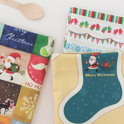 DTP20でき平織り)サンタの贈り物(3種)