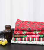 20することができ平織り)クリスマスフラワー(5種)