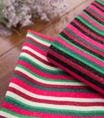 20することができ平織り)クリスマスストライプ(2種)