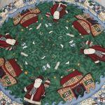 カット紙)クリスマスサンタの村(半月)