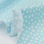 30数平織り)サラドット(青色)[1432]