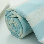 30数平織り)オリビアストライプ(青色)[1451]