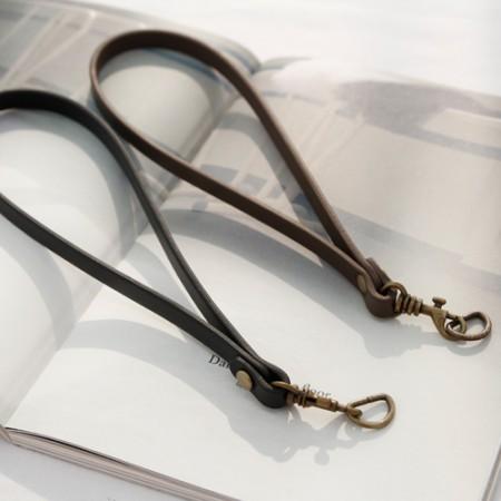 バッグのひも21cm)レザークラッチハンドル(2種)