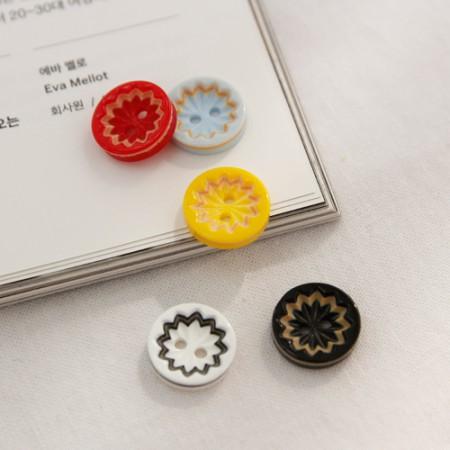 5ea)カラフル鋸歯ボタン(5種)