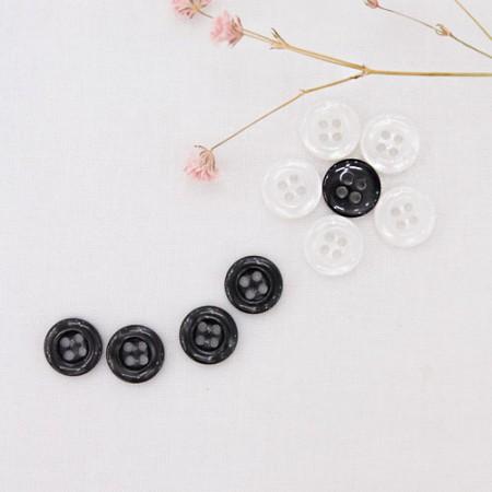 10ea)10mmシンプルスケールボタン(2種)