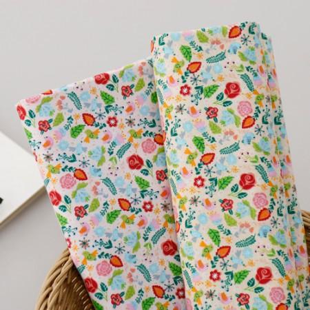 20することができ平織り)の花と鳥(2種)