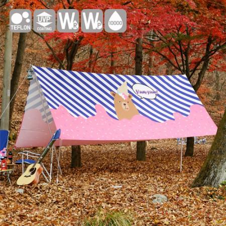 """感性キャンプ生地)ワイド通販カットか - 恋に落ちたクマ<div style=""""display:none;"""">生地/モール/コットン/コットン店/キャンプ生地/テーブルクロス/防水</div>"""