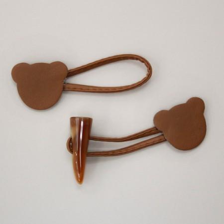 角ボタン)クマの形トッポッキボタン(ブラウン)