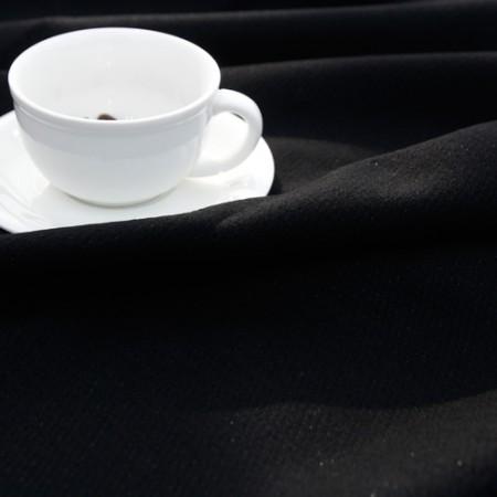 大幅 - ウール混の生地)モダンシック(ブラック)