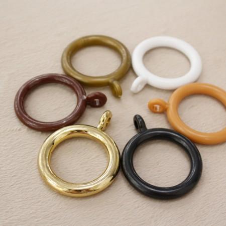 10ea)カーテンリング(15mmイミテーション圧縮ロッド)5種