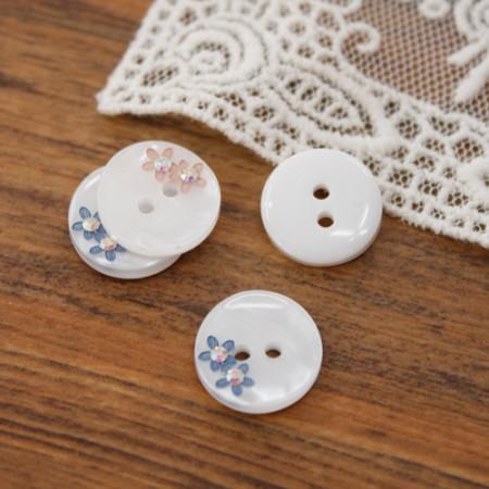 [2個]者個のボタン)13mm宝石ジャンコトボタン(2種)