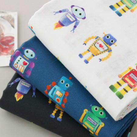 最高級DTP20こと平織り生地)ロボットの友人(3種)