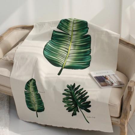 リネンカット地)ボタニカル - バナナの葉
