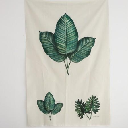リネンカット地)ボタニカル - ユーカリ