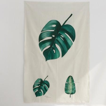 リネンカット地)ボタニカル - モンステラ
