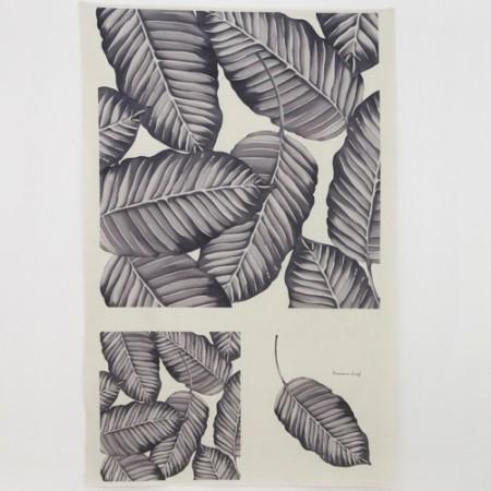 リネンカット地)ボタニカル - バナナリーフの森