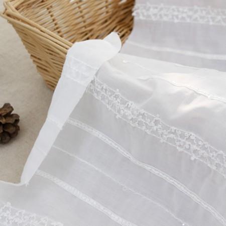大幅 - 綿30数生地)スパンコール刺繍レース