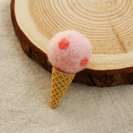 半製品フリース装飾)アイスクリーム