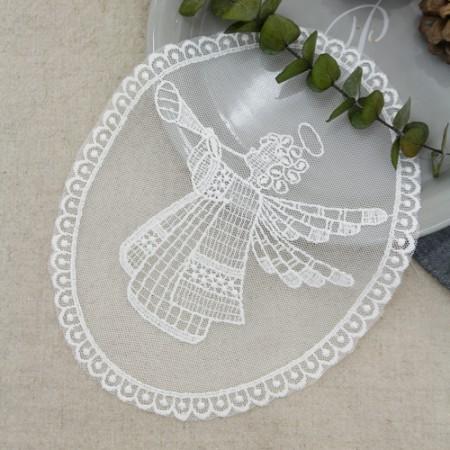 ネットモチーフ)天使の歌(白アイボリー)