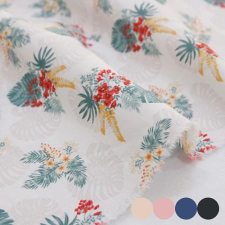 大幅-30でき平織り)ハワイアンフラワー(4種)