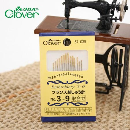 クローバー刺繍針セット(3〜9号)