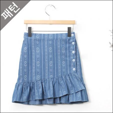 パタン - 子供)子供スカート[P901]