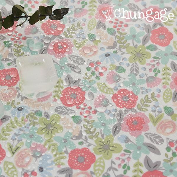 防水布、非毒性TPUラミネート布)アールグレイ花