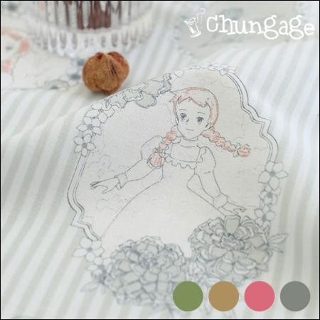 赤毛のアン1/2麻 - コットンリネン)アンティークアールヌーボー(4種)