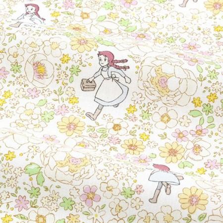 赤毛のアン1/2麻 - コットン)フラワーダンス(2種)