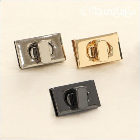 バッグロック装飾ベーシック正方形3cm(3種)