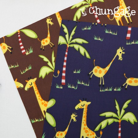 大幅 - デュスポ防水布)ジャングルキリン(2種)