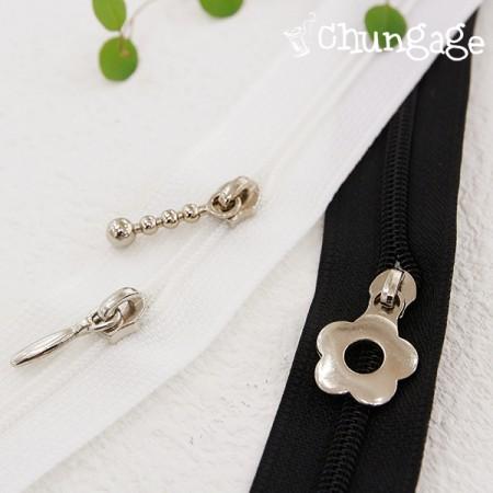 4号ジッパー飾りスライドゥ(2個入り/ 3種)