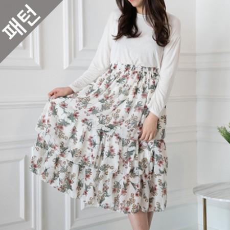 パタン - 女性)女性のスカート[P1050]