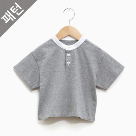 パタン - 子供)子供ティーシャツ[p1089]