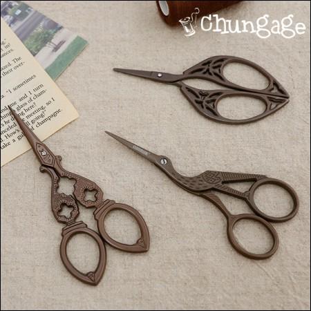 フランスの刺繍刺繍はさみ手芸用ハサミ(3種)