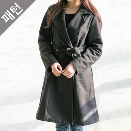 服のパターンの衣装パターンレディースコート[P1005]