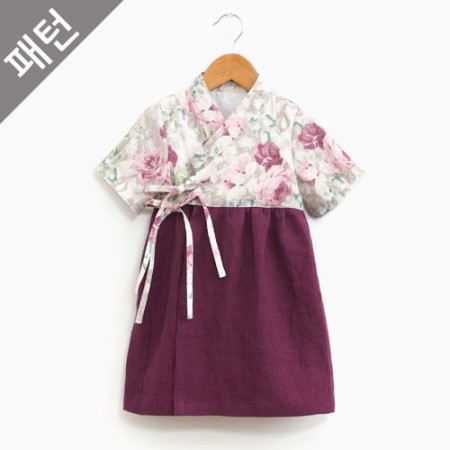 服のパターンの衣装パターン子供韓服[P1116]