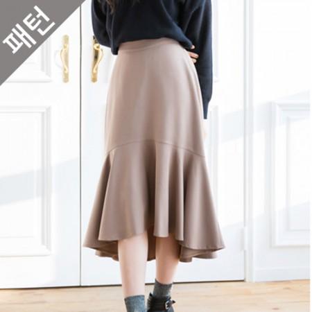 服のパターンの衣装パターン女性のスカート[P975]