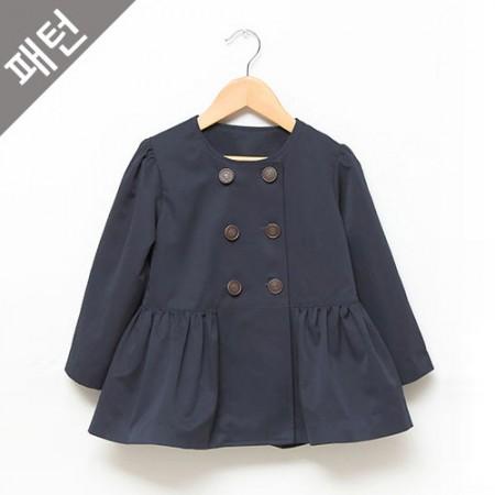 服のパターンの衣装パターン子供コート[P474]