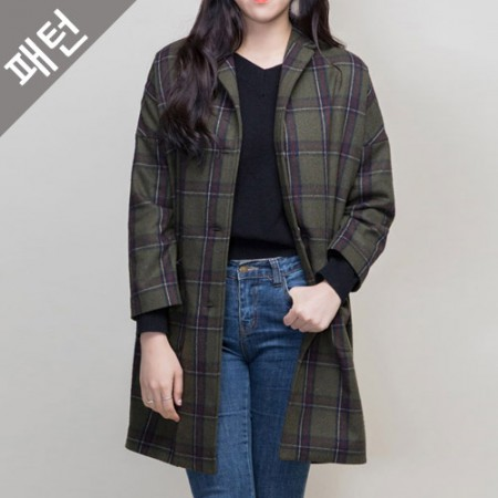 服のパターンの衣装パターンレディースコート[P977]