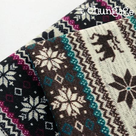 大幅 - 起毛ニット生地)雪ルドルフ(2種)