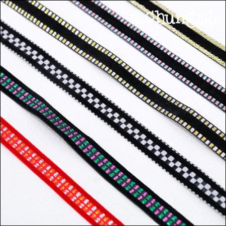 ベルベットのリボン紐ベルベットのステッチリボンテープ15mm(6種)