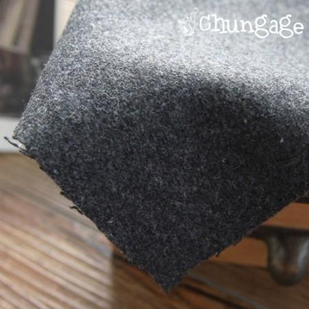 大幅 - ウールウール)暖かいウールウール濃い灰色