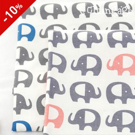 限定特価)20数平織り)エレファントグレー(2種)