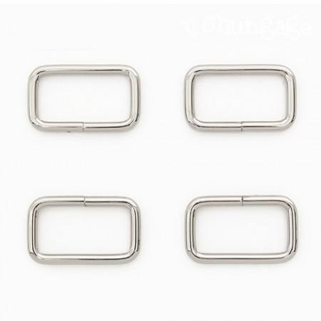 バッグの接続正方形リングベーシックㅁリン正方形リングシルバー30mm