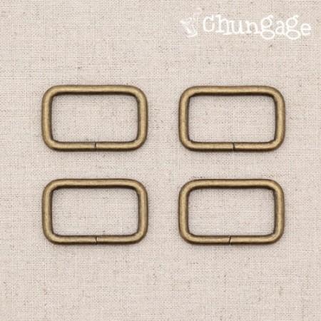 バッグの接続飾りバーコルㅁリン正方形リング骨董こっとう(3種)