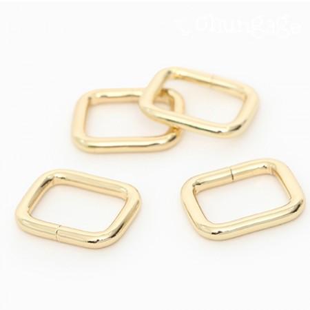 バッグの接続飾りベーシックㅁリン正方形リングゴールド(3種)